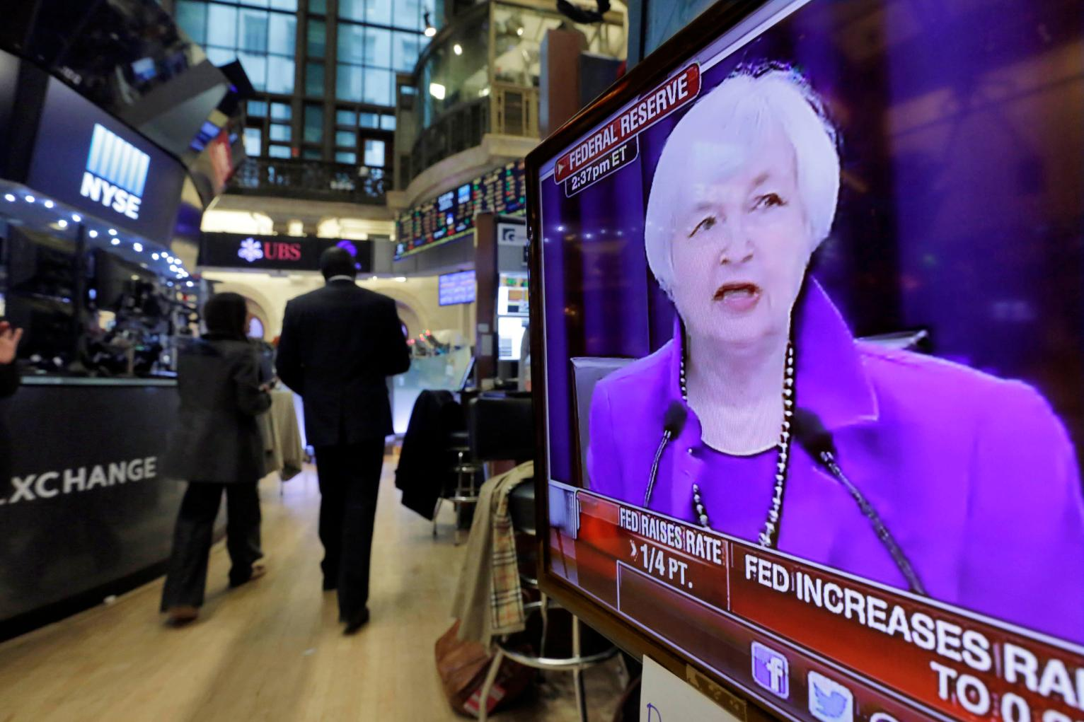study most moonlight to make ends meet us news federal reserve chair janet yellen s washington news conference is shown on a television screen on the