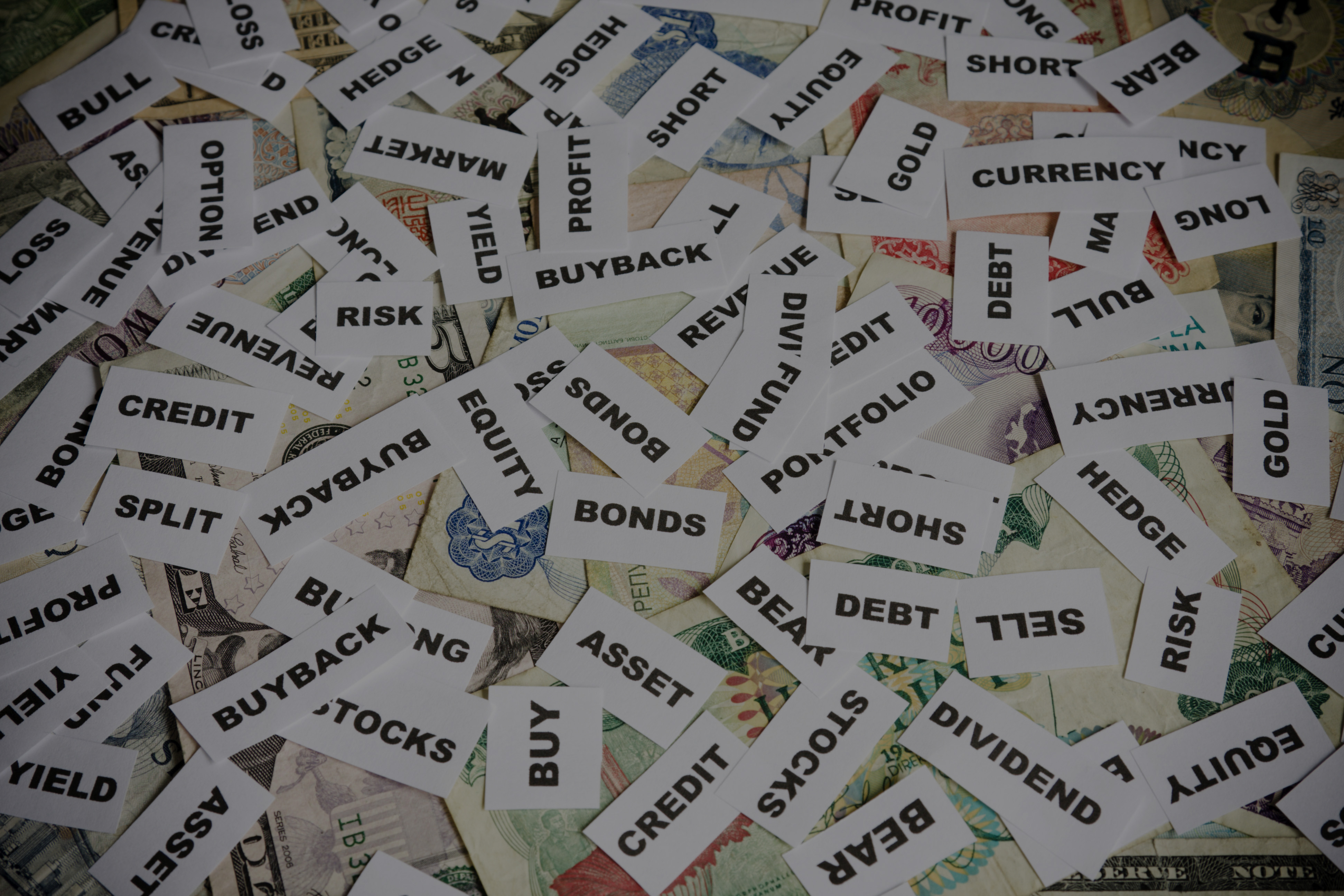financial terms More than 5,000 terms related to stocks, bonds, mutual funds, banking, tax laws, and transactions in the various financial markets are presented alphabetically with.