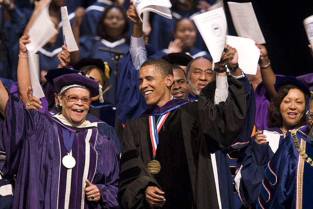 "an analysis of the increase in enrollment in historically black colleges and universities 'the atmosphere at hbcus offer a space for students to grow and  from 1976  to 2015, hbcu enrollment increased by 32%, from 223,000 students to 293,000   but also ""not grounded in any serious constitutional analysis."
