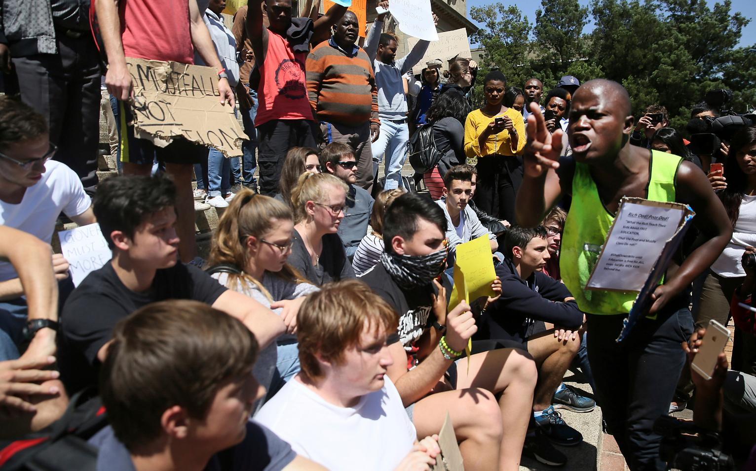 South Africa's university protests show racial division ...
