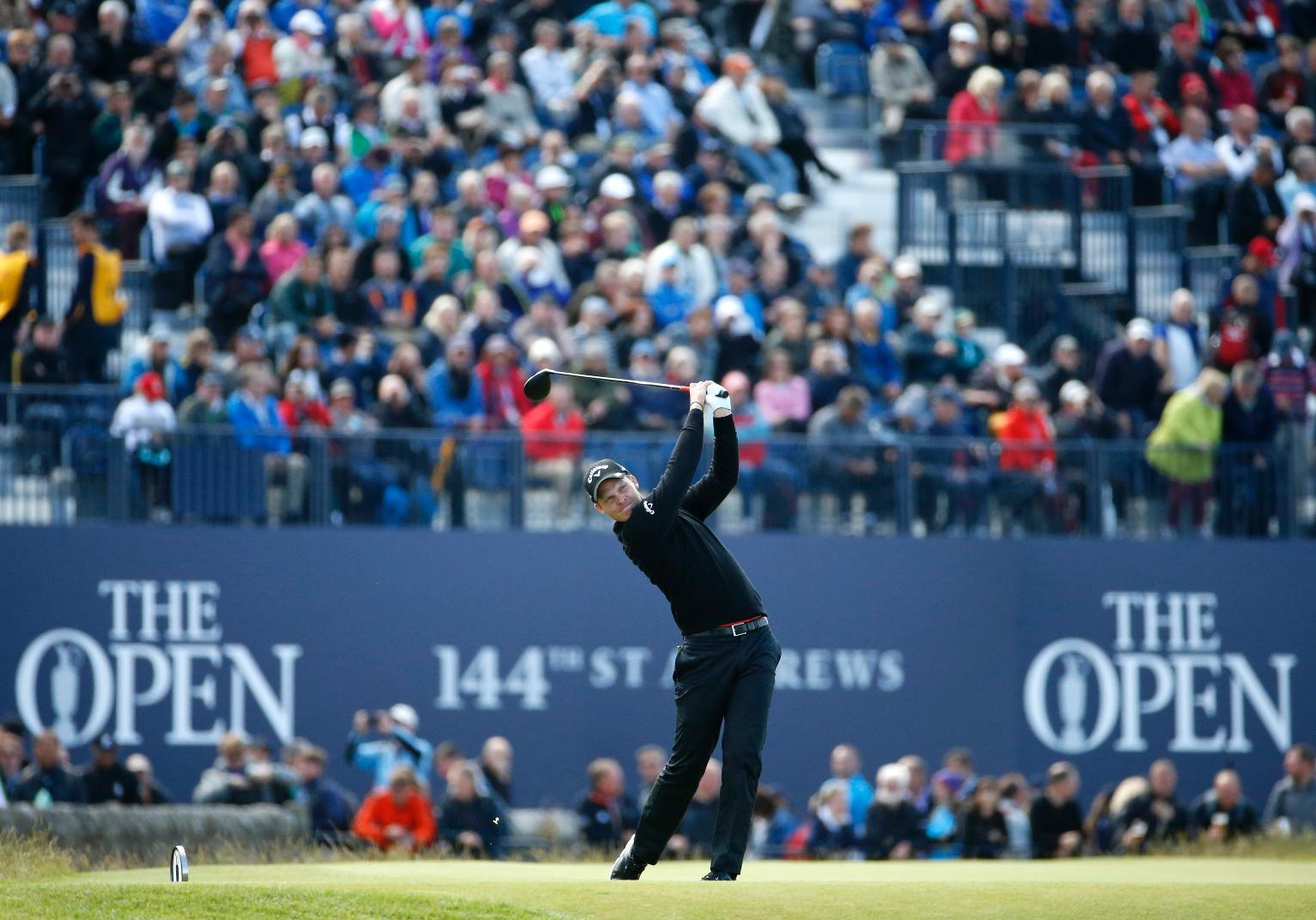 the latest  second round of british open is done   finally