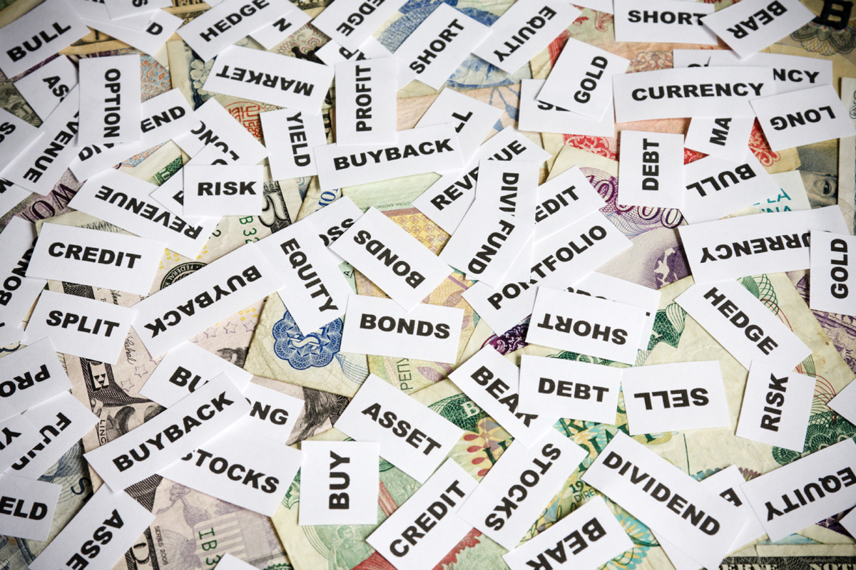 financial terminology In order to get a better understanding of what you read in markets news, we'll briefly explore the terms you commonly encounter.
