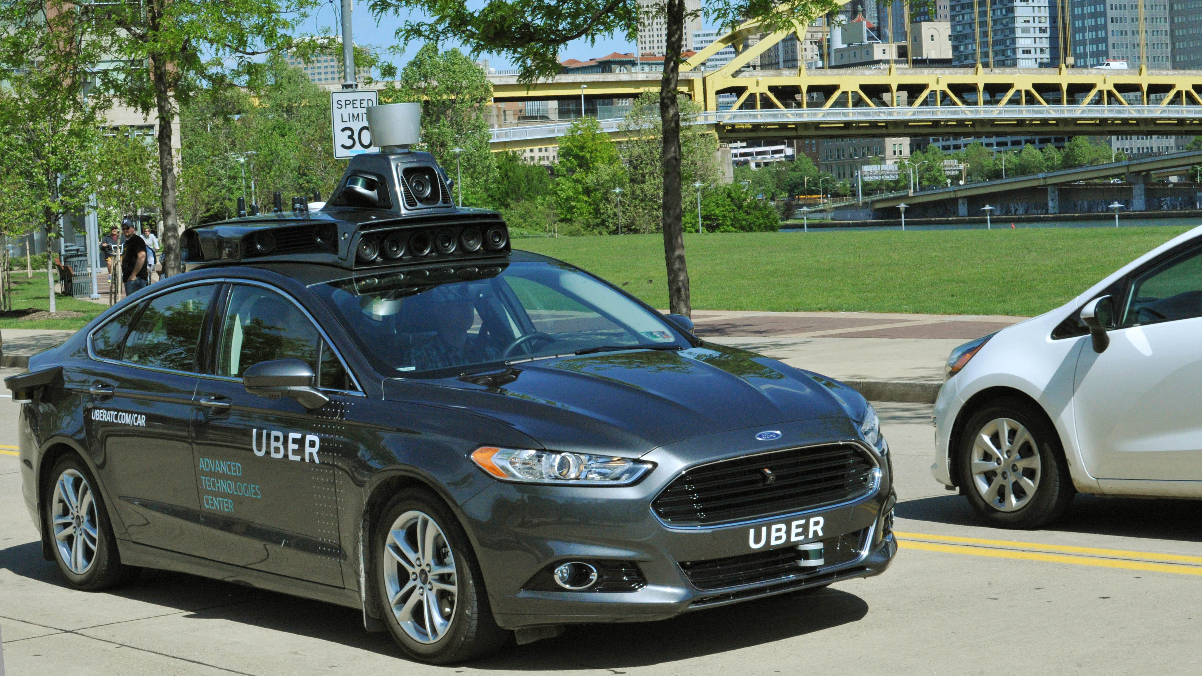 In This Undated File Photo Provided By Uber, A Ford Fusion Hybrid Outfitted  With Radars