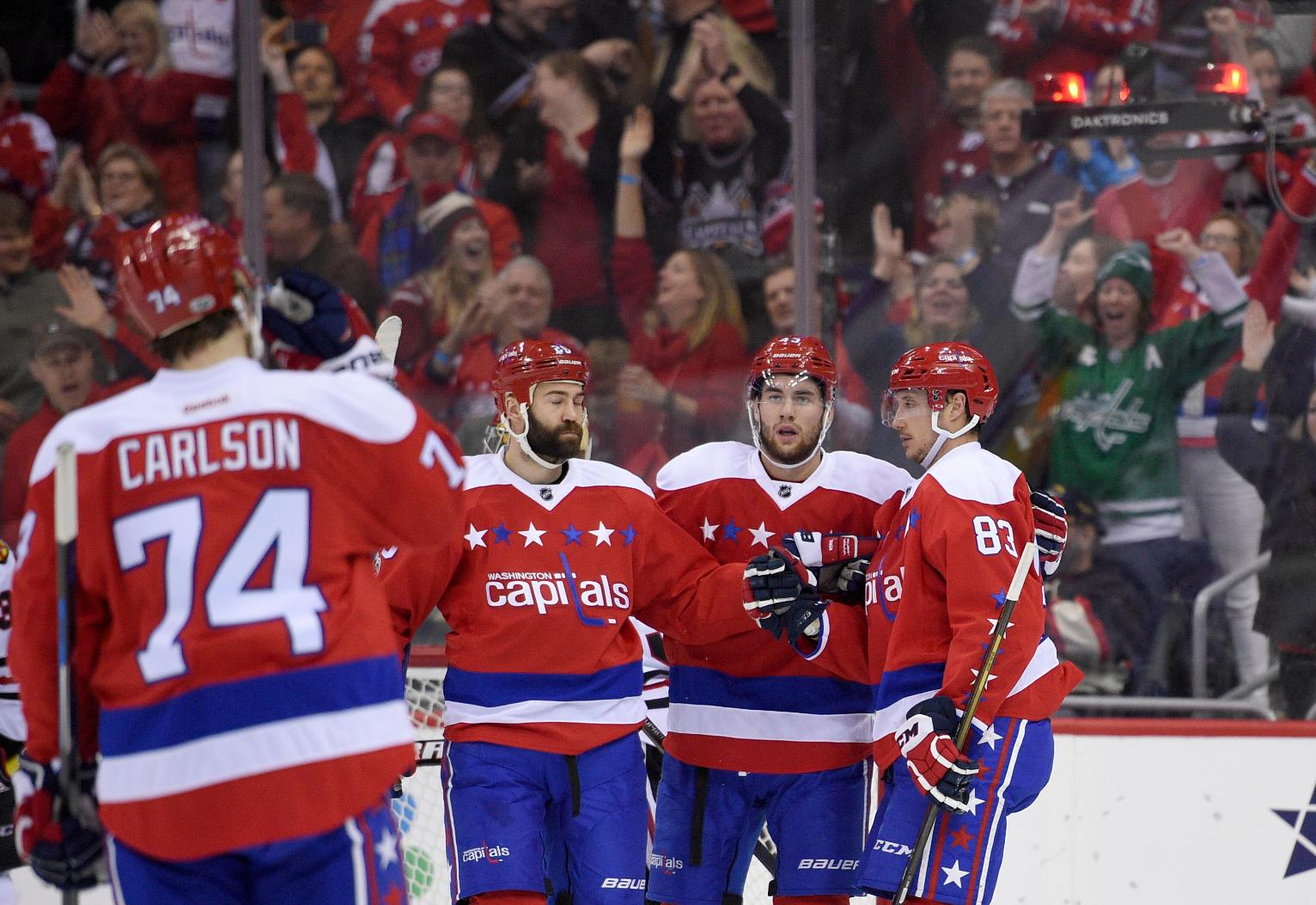 Capitals rout Blackhawks 6-0 to extend winning streak to 8