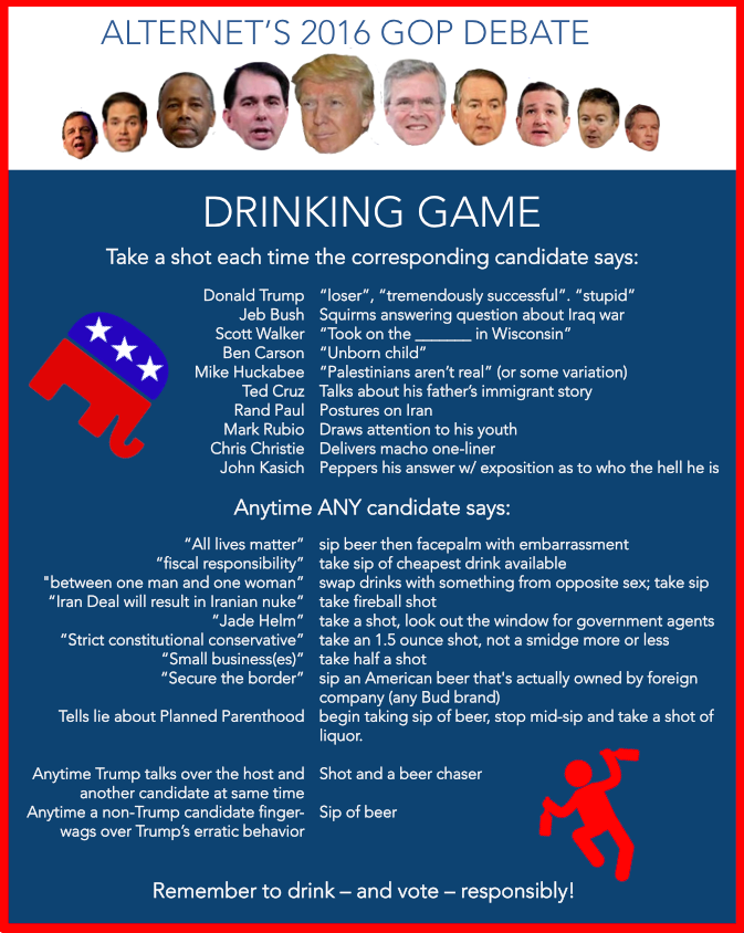 Presidential Election Result  Drinking Game