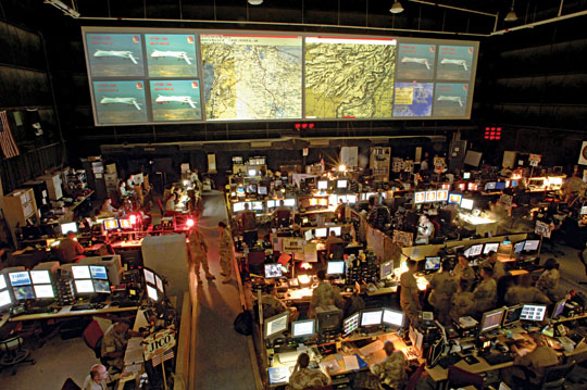 A Look Inside The Air Force S Control Center For Iraq And
