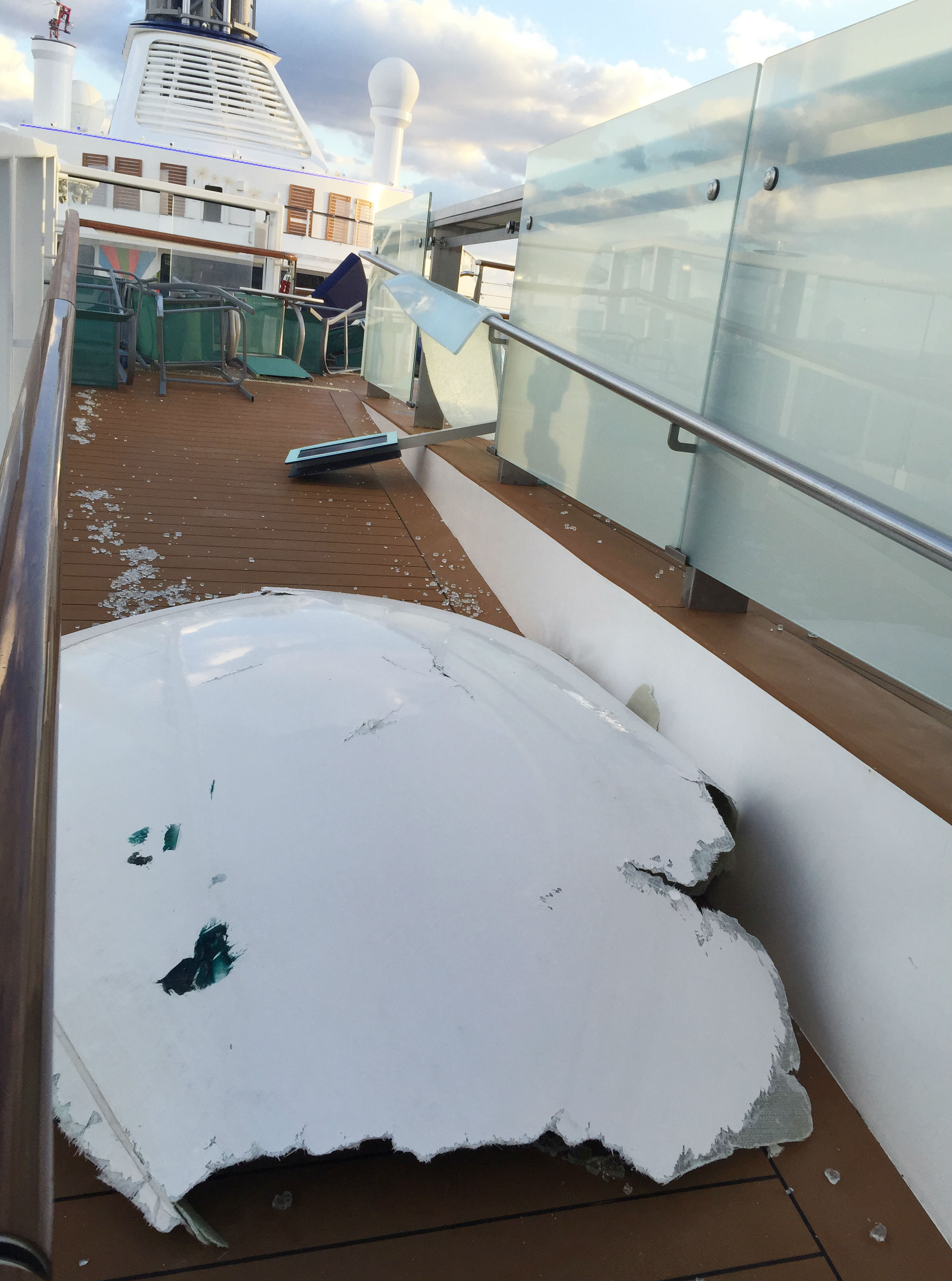 Royal Caribbean Cruise Ship Caught In Atlantic Storm To