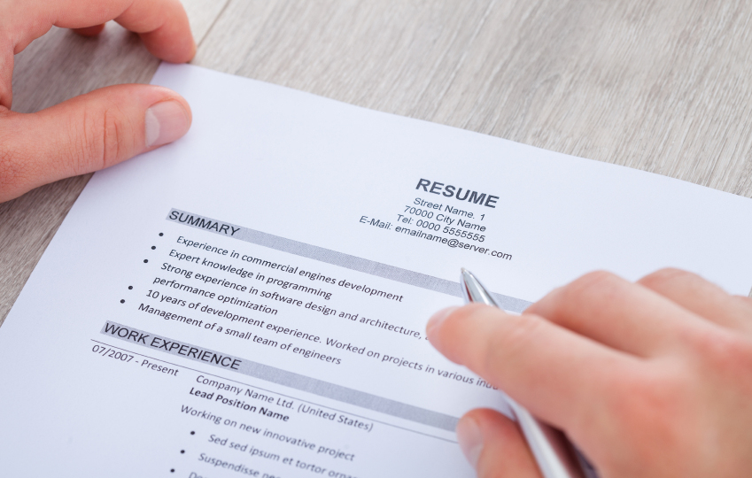 making a perfect resume