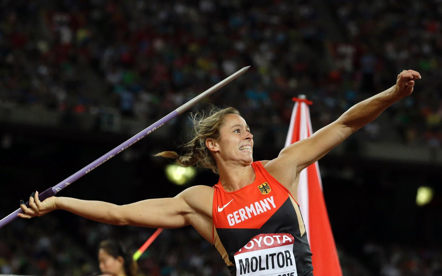 The Latest Molitor Wins Women S Javelin With Last Throw