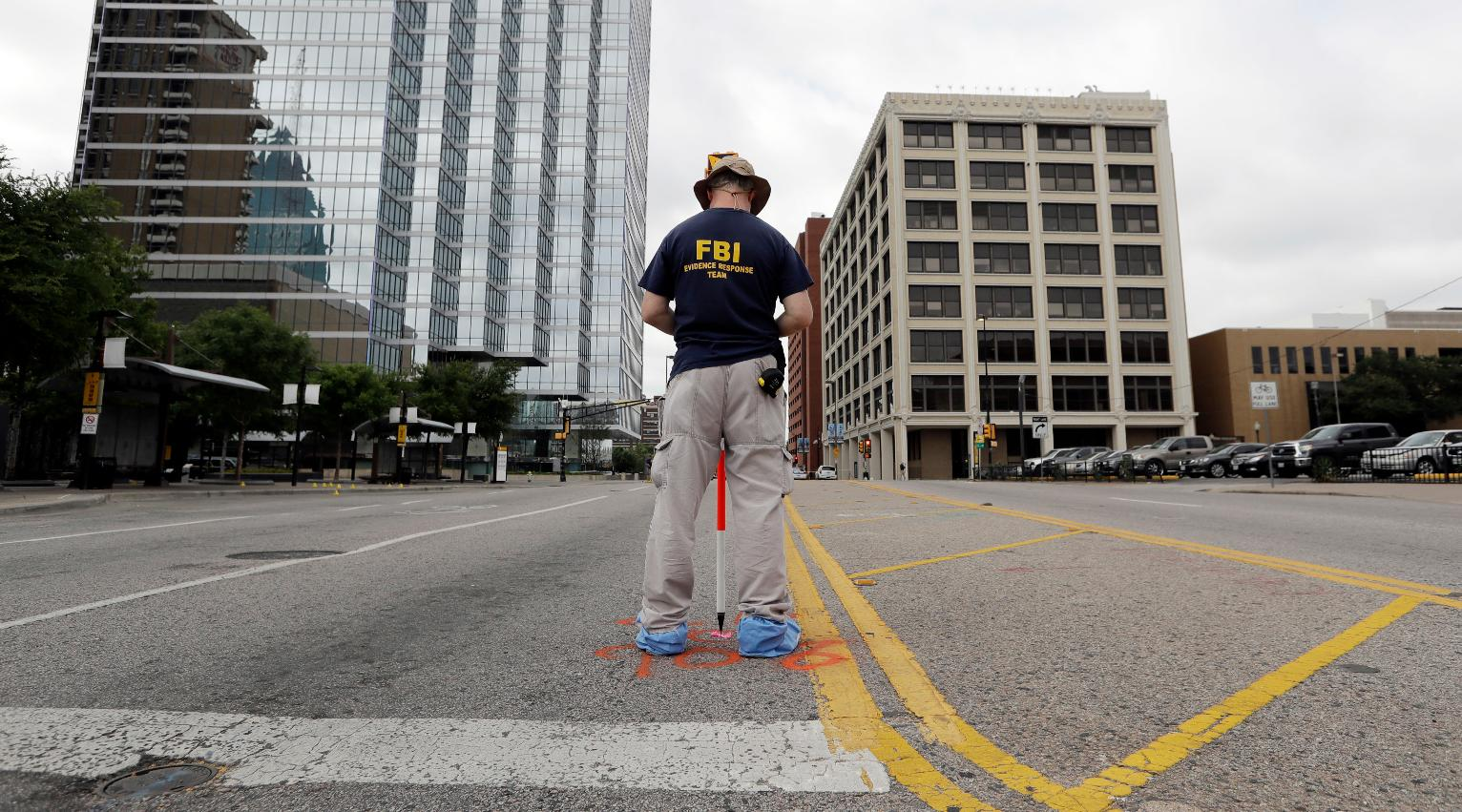 The Latest: Dallas police say nothing found in garage search