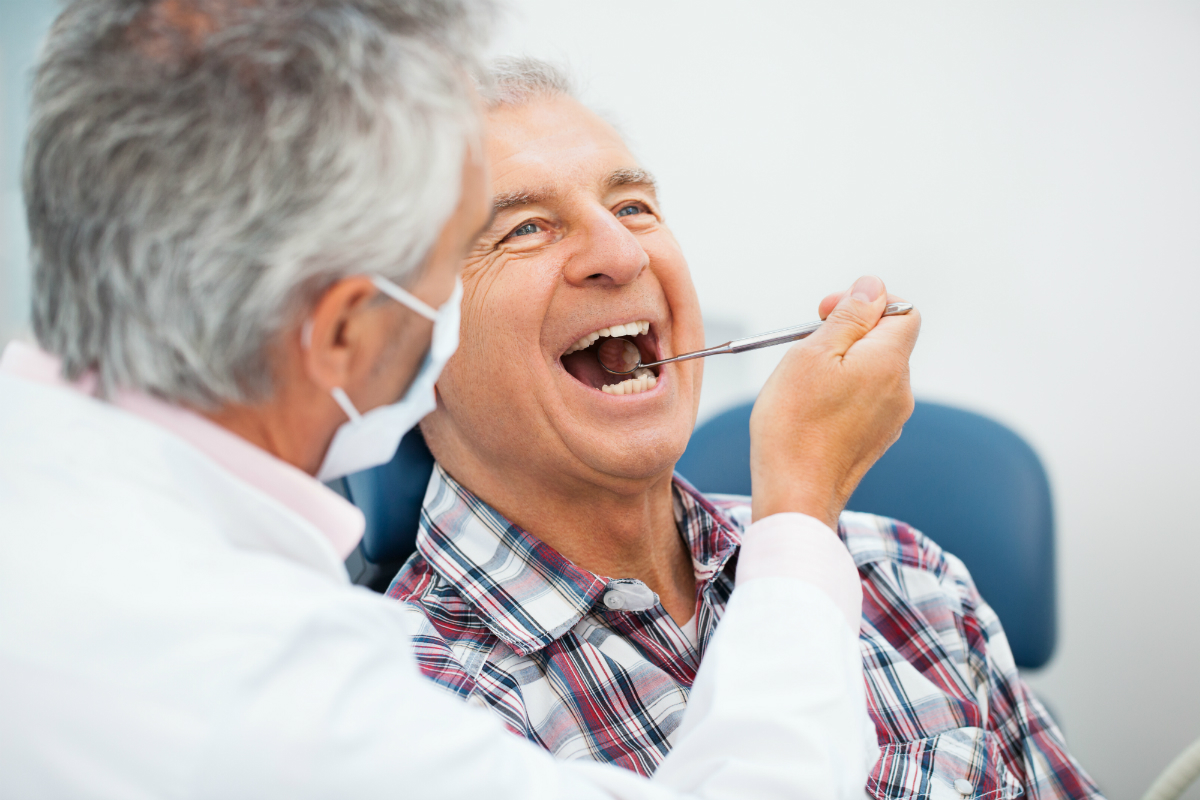 Eldely With No Fan : Healthy aging oral health for older adults well